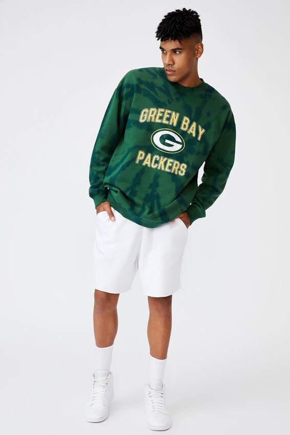 Oversized Nfl Crew, LCN NFL GREEN TIE DYE/PACKERS
