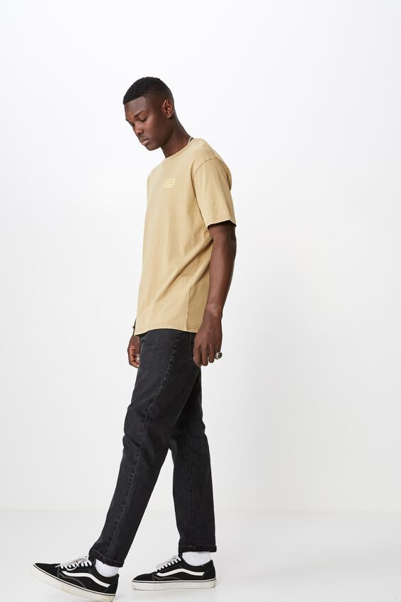 Graphic Washed T Shirt, WASHED SAND/AURORA