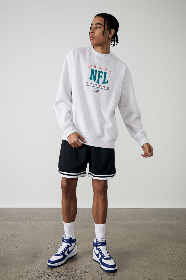 Oversized Nfl Crew, LCN NFL SILVER MARLE/MIAMI DOLPHINS