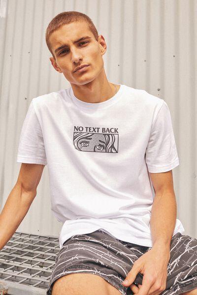 Slim Graphic T Shirt, WHITE/NO TEXT BACK