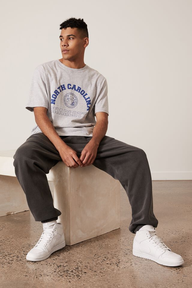 Regular Graphic T Shirt, GREY MARLE/CHARLOTTE NC