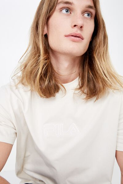 Fila Lcn Regular Washed T Shirt, WASHED IVORY