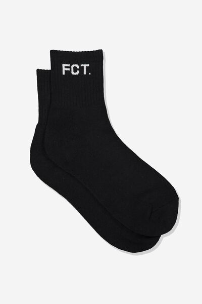 Ribbed Sports Sock, BLK_FCT