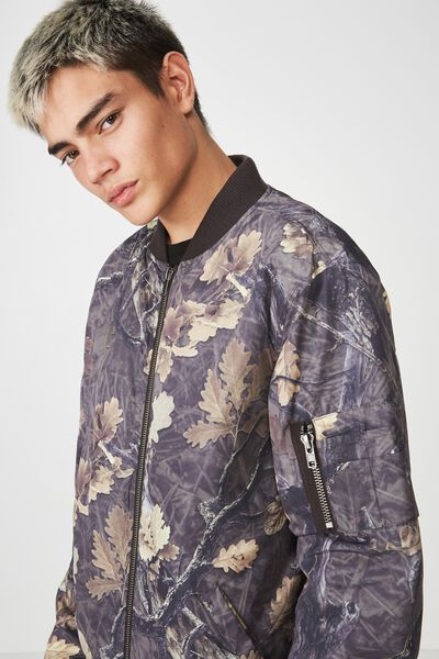Bomber Jacket, WOODLANDS CAMO