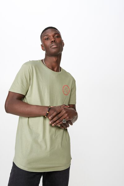 Curved Graphic T Shirt, TEA/HEAVYWEIGHTS