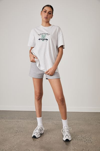 Super Relaxed Graphic Tee, SILVER MARLE/DIVISON W