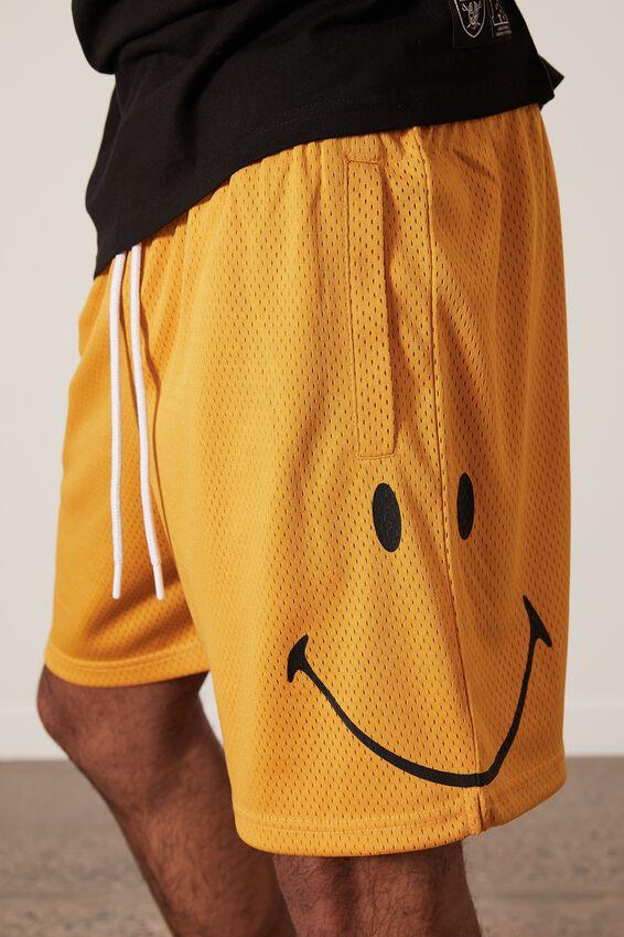Smiley Basketball Short, LCN SMI YELLOW/SMILEY