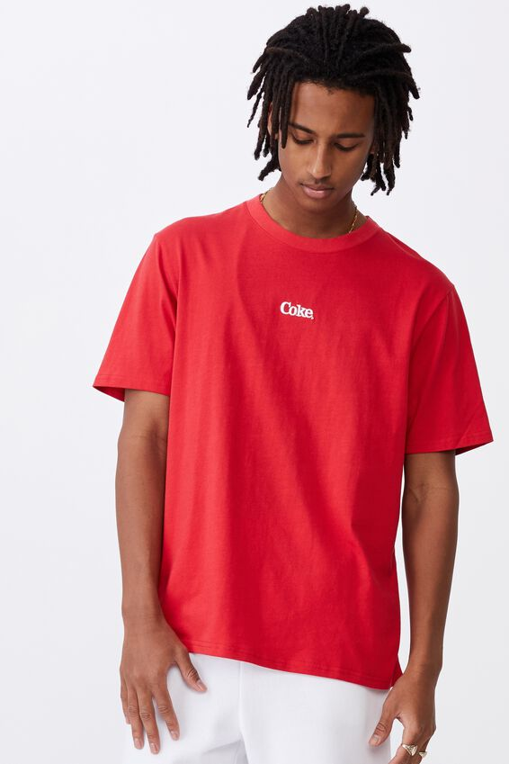 Regular License T Shirt, LCN COK SMOKE RED/COCA COLA