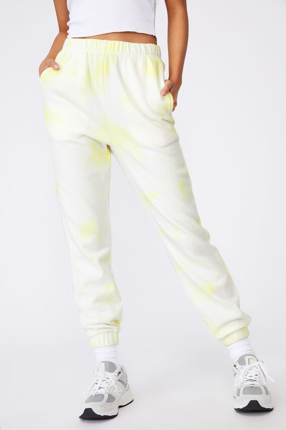 Super High Rise Trackpant, TENDER YELLOW TIE DYE