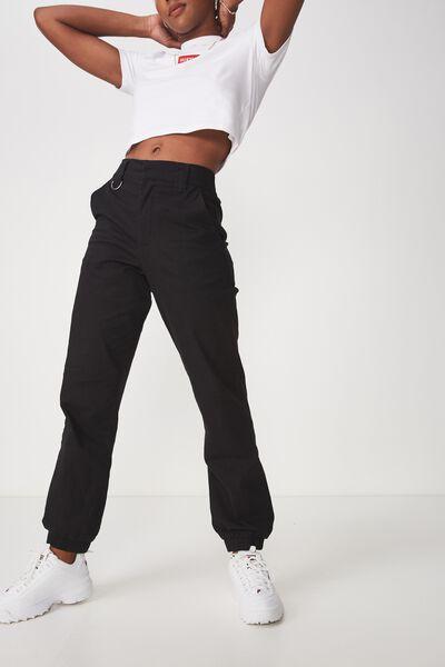 Utility Pant, BLACK