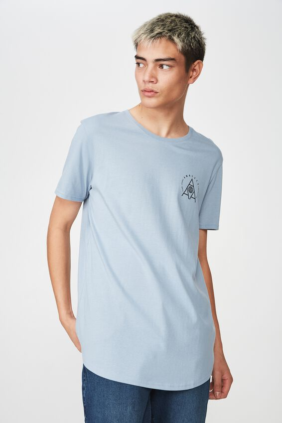 Curved Graphic T Shirt, ASHLEY BLUE/TRIPLE A