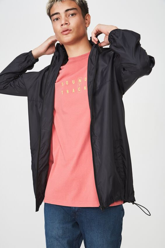 Hooded Spray Jacket, BLACK