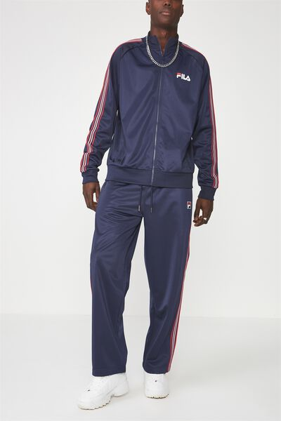 Fila Stripe Trackpants, NAVY