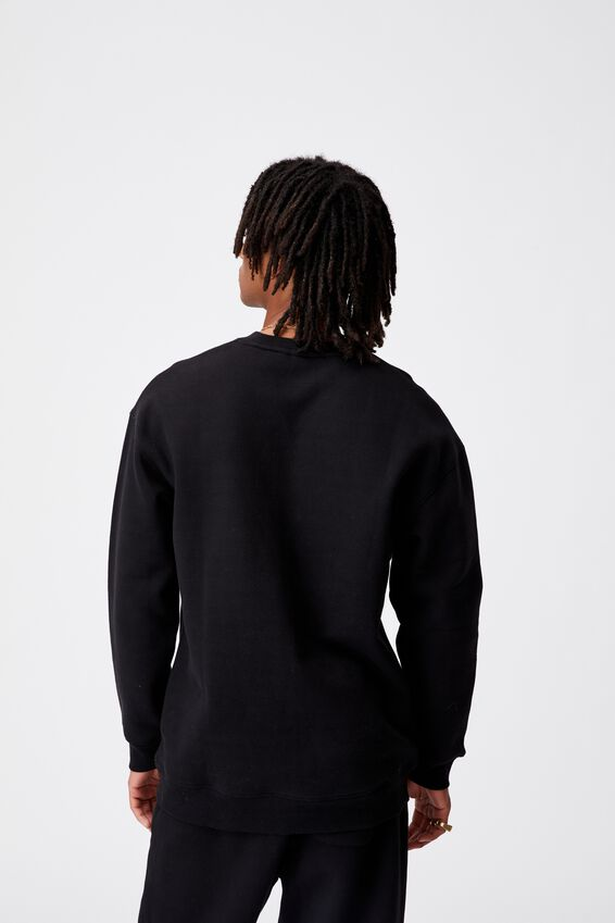 Fila Lcn Oversized Fashion Crew, BLACK/FILA