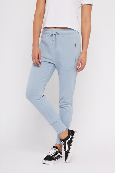 Skinny Fit Trackpant 2, DUSTY BLUE