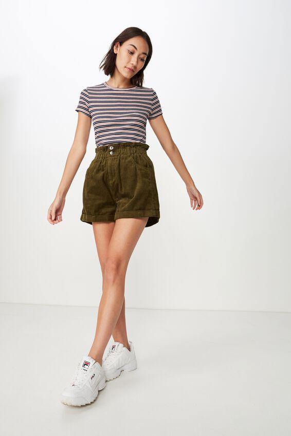 Short Sleeve Rib T Shirt Stripe, HUNTLEY STRIPE_GREY MARLE