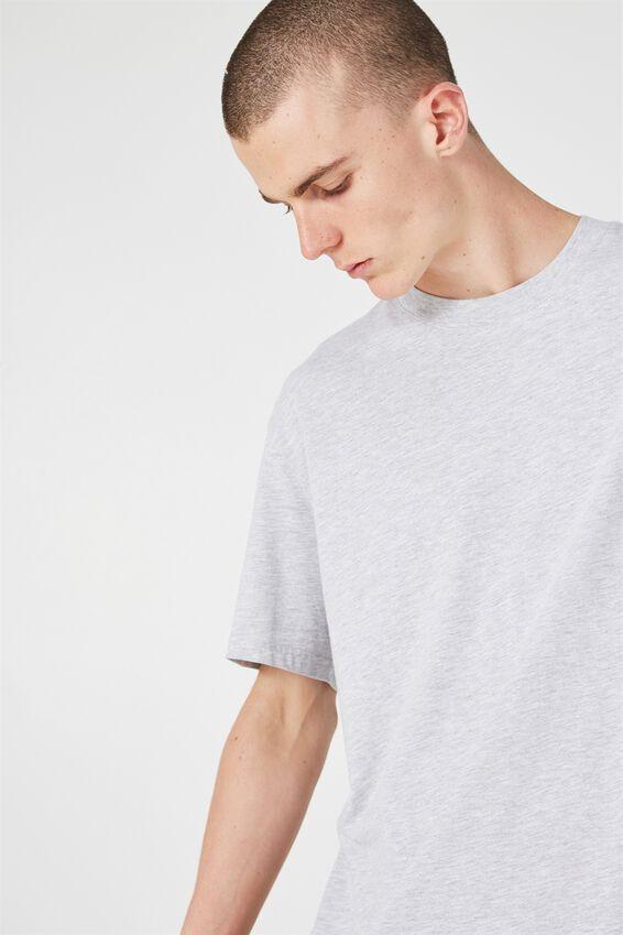 Classic T Shirt., LIGHT GREY MARLE