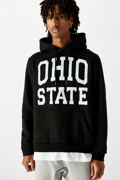 Basic Graphic Hoodie, BLACK/OHIO STATE