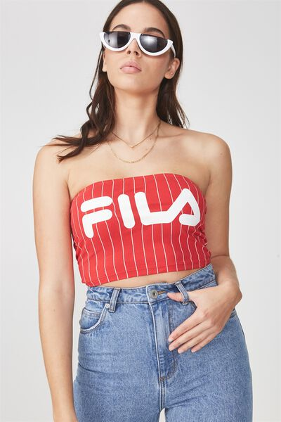 Fila Lcn Tube Bandeau, FILA STRIPE LYCHEE BASE WITH WHITE PINSTRIPE