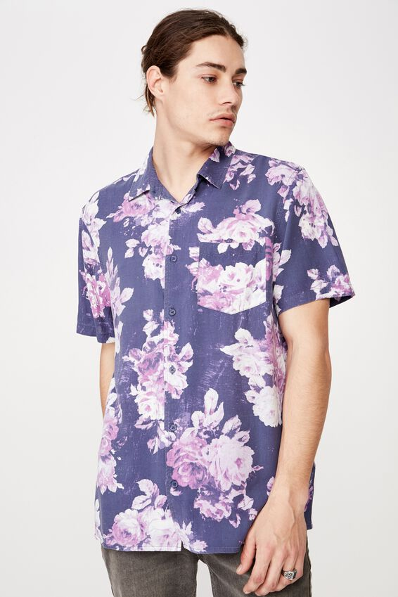 Resort Shirt, WILTED FLORAL