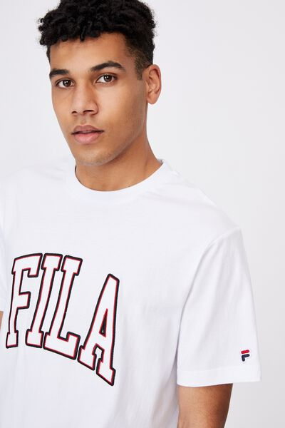 Fila Lcn College T Shirt, WHITE/FILA