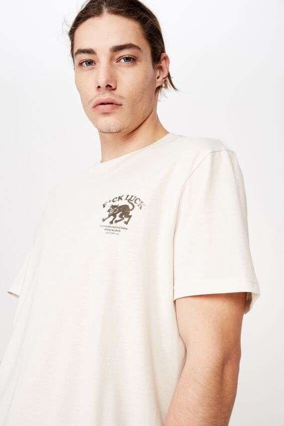 Regular Graphic T Shirt, IVORY/LUCK