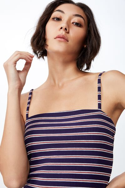 Ribbing Cami 2, BOSTON STRIPE_EVENING BLUE