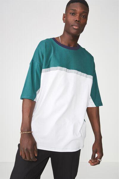 Reflector Block T Shirt, JUNE BUG
