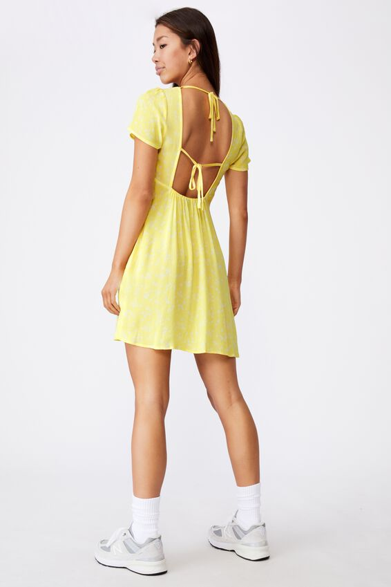 Short Sleeve Ruched Dress, LIMELIGHT DARBY FLORAL
