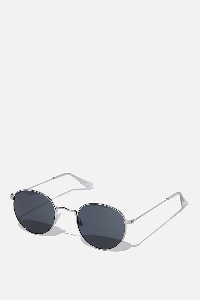 Splendour Round Sunglasses, S SIL_SMK