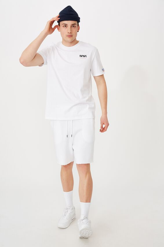Regular License T Shirt, LCN NAS WHITE/NASA