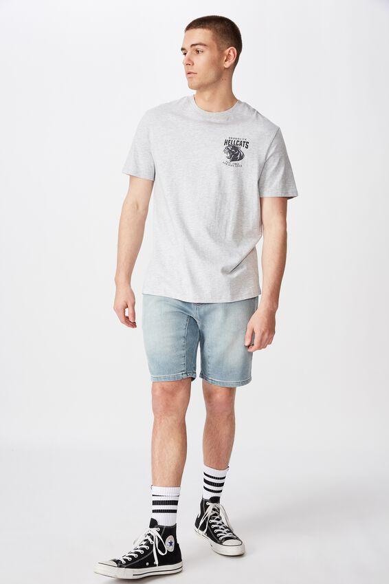 Regular Graphic T Shirt., LIGHT GREY MARLE/HELLCATS