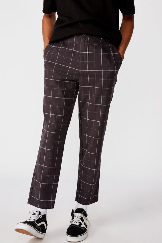 Relaxed Tapered Leg Pant, CHARCOAL SHADOW PANE