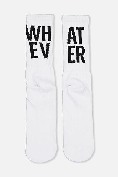 Retro Ribbed Socks, WH_AT EV_ER