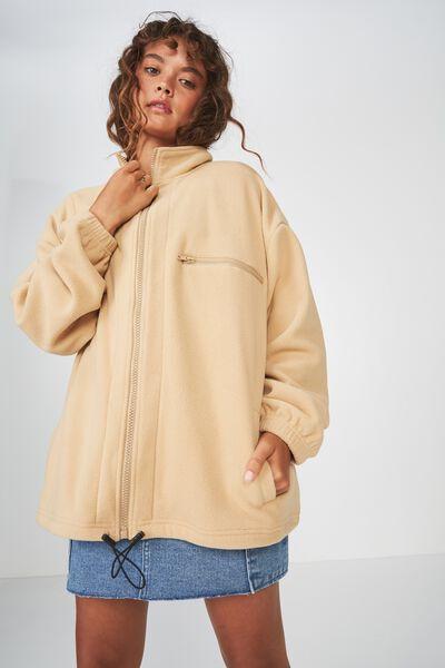 Polar Fleece Jacket, BUTTERED CARAMEL