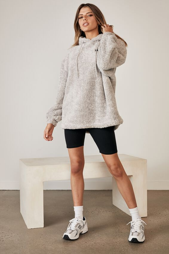 Fluffy Graphic Hoodie, SPECKLE GREY/SCENIC ROUTE