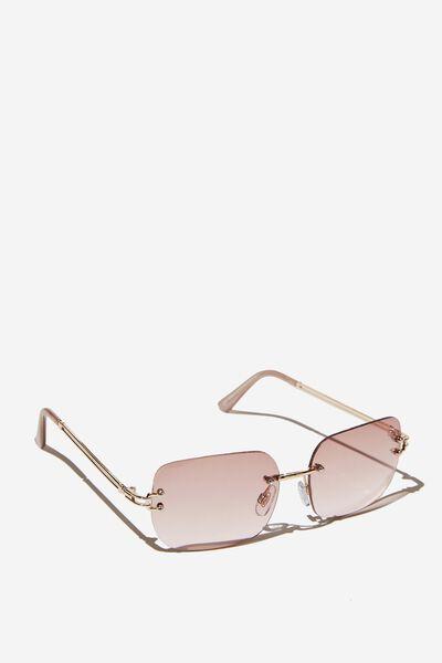 Fifi Frameless Sunglasses, GOLD