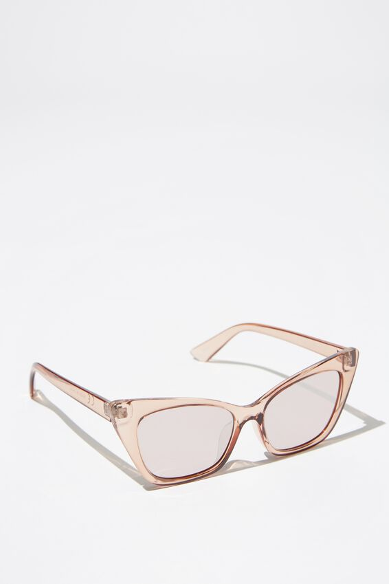 Kenzie Cateye Sunglasses, S.CRY ROSE_ROS/SIL