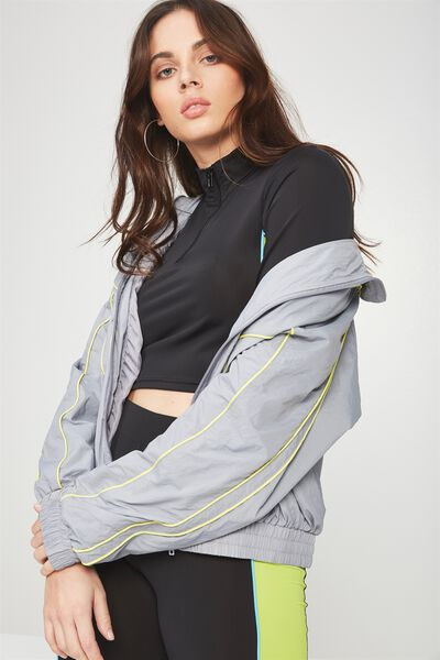 Shell Tracksuit Jacket, SILVER_NEON BIND