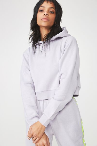 Travis Taped Hoodie, LILAC GREY_NEON YELLOW