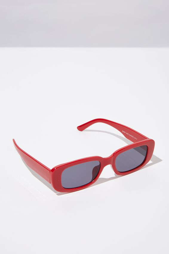 Short Mod Sunglasses, MATT RED_TINT