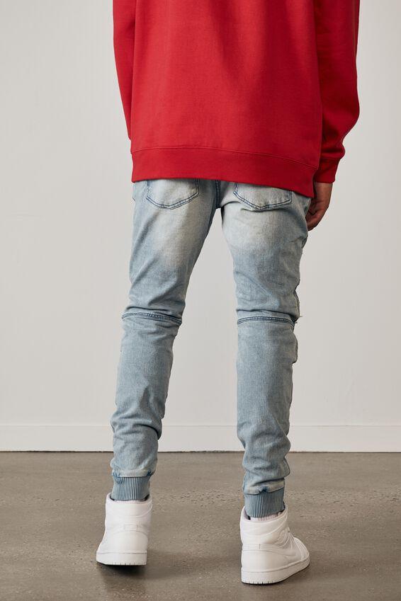 Semi Cuffed Denim Jean, CLOUD BLUE DIST
