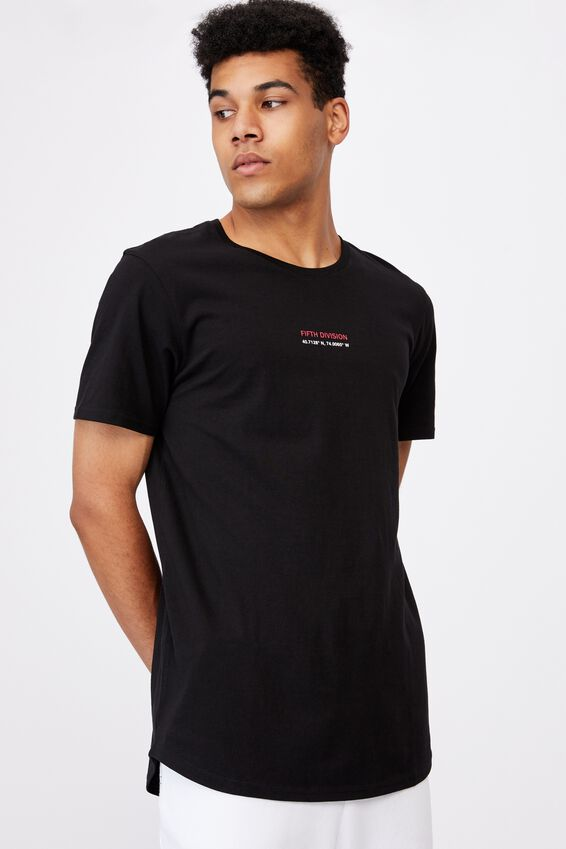 Curved Graphic T Shirt, BLACK/FIFTH DIVISION