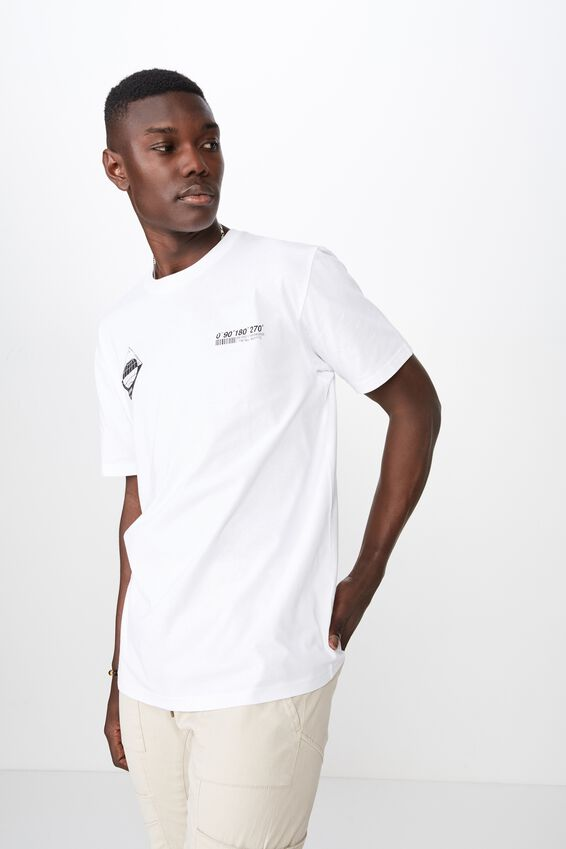 Graphic T Shirt, WHITE/DEGREES