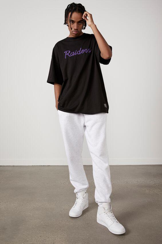 Oversized Nfl T Shirt, LCN NFL BLACK/RAIDERS SCRIPT