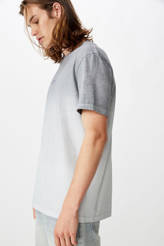 Regular Tie Dye T Shirt, BLACK/CRASH AND BURN