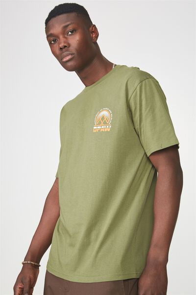 Ss Graphic T Shirt, BRONZE GREEN/DPAW