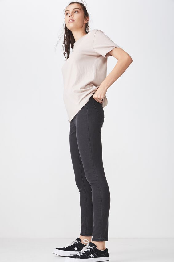 The High Rise Skinny Jean 3, THRIFT BLACK