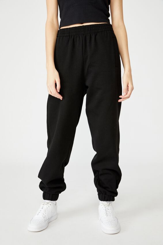 Slouchy Trackpant, WHITE