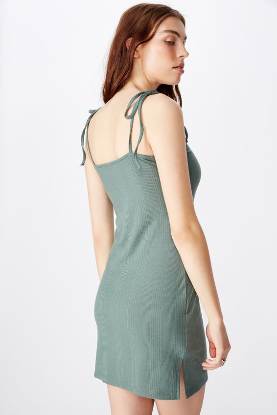 Side Split Dress, FOREST KHAKI